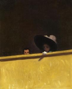 Félix Vallotton, La Loge de théâtre, le Monsieur et la Dame, 1909 Collection particulière © DR