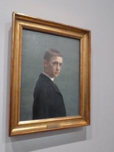 Au seuil de l'exposition Valotton, son autoportrait (© Pierre Nouvelle).