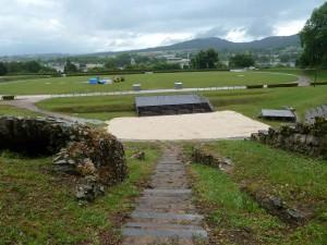 L'amphithéâtre d'Autun était l'un des deux édifices de spectacle de la ville. Un autre théâtre romain a été mis au jour  en 2013 et les fouilles se poursuivent près du temple de Janus (© Pierre Nouvelle).