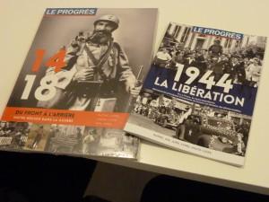 De la Première à la Deuxième guerre mondiale, le quotidien régional Le Progrès a revisité l'actualité (© Pierre Nouvelle).