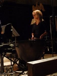 Mozart a rendu hommage à tous les instruments, comme ici les timbales tenues par Nathalie Geujon-Gantiez (© Pierre Nouvelle).