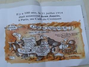 Jean Plantu, dessinateur attitré du quotidien Le Monde, mais aussi journaliste militant pour la liberté de la presse a composé cette caricature pour l'intersyndicale nationale des journalistes (© Pierre Nouvelle).