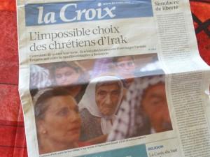 Chrétiens, Yézidis... les minorités irakiennes font la Une de l'actualité (© Pierre Nouvelle).