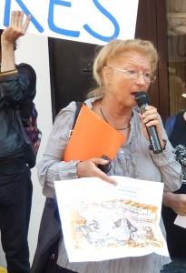 Dominique Pradalié (SNJ) a inscrit ses propos dans la foulée du premier édito de Jean Jaurès dans L'Humanité (© Laurent Villette).