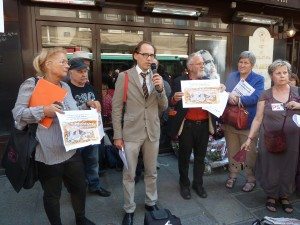 Le 31 juillet 2014, les syndicats de journalistes lançaient un appel au président Hollande pour étendre la protection des sources des journalistes (© Pierre Nouvelle)?