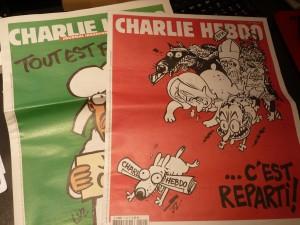 Du vert au rouge, rédacteurs et reporteusrs dessinateurs n'ont rien perdiu de leur mordant (© Pierre Nouvelle).