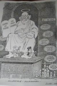 Pour ses 80 ans, Chakir, au nom de ses collègues dessinateurs, avaient déjà rendu hommage à Roland Garel (© Chakir).