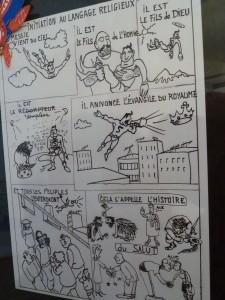 BD et caricatures lui ont servi dans on ministère pastoral (© Pierre Nouvelle).