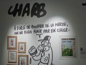 Avec Chab, Wolinski, Tignous, Cabu, Honoré, c'est un hommage à toute l'équipe de Charlie Hebdo qui a été rendu (© Pierre Nouvelle).