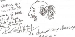 Caricaturé par un de ses collègues (© conchita)