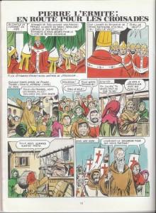 roland garel a aussi illustré des histoires religieuses, ici les Croisades (© Bedetheque).