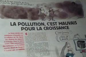 Avec le beau temps, les pics de pollution se généralisent... La ministre met trois jours pour décréter la circulation alternée durant une seule journée ! ((c) Pierre Nouvelle).