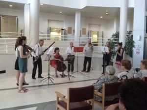 La musique à l'hôpital pour ouvrir des fenêtres sur la vie (© Pierre Nouvelle).