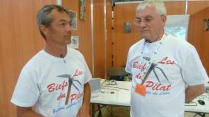 Jérôme bsset et Jean-Marc Hauth sont les chevilles ouvrières de l'association Les Biefs du Pilat (© Pierre Nouvelle).