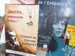 Jaurès assassiné deux fois est un des trois one-woman-show présenté en Avignon en juillet 2015 (© Pierre Nouvelle).