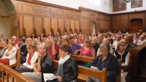 L'église de la Chartreuse de Ste Croix-en-jarrest était comble pour le premier concert des 30e Musicales (© Pierre Nouvelle).