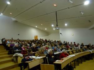 le 28 novembre 2014, à l'Ecole normale supérieure de Lyon, plus de 100 personnes ont débattu des maifestations et de la place des femmes durant mai-juin 68 à Lyon (© Nicole maire)