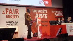 500 délégués, un millier d'observateurs : le congrès 2015 de la Confédération européenne des syndicats s'est tenu du 30 septembre au 2 octobre à Paris (© Pierre Nouvelle).
