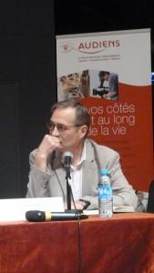 Maître d'oeuvre de ces Conférences nationales des métiers du journalisme, Jean-Marie Charon s'interroge sur l'avenir des médias et des journalistes (© Pierre Nouvelle).