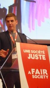 A tout juste 30 ans, l'ex-responsable syndical étudiants puis des jeunes syndicalistes va représenter les syndicats français au sein du secrétariat général de la CES (© Pierre Nouvelle).