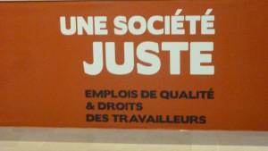 """Dans une économie en crise et face à des patrons pour le moins réticents au dialogue social, revendiquer une """"société juste"""" constitue un véritable défi qui suppose une réelle mobilisation des salariés européens (© Pierre Nouvelle)."""