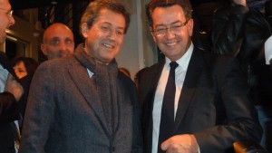 Les élus des Républicains etaient venus nombbreux féliciter leur leader. Ici, Georges Fenech et Philippe Cochet, députés du Rhône (© Pierre Nouvelle).