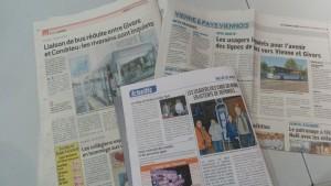 La presse écrite régionale : Le Progrès, Le Dauphiné libéré, L'Essor et Le Réveil du Vivarais a relayé l'action qui vient d'émerger au grand jour (© Pierre Nouvelle).