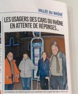 Un quatuor d'usagers décidés n'a pas ménagé sa peine pour convaincre habitants et élus locaux (© Pierre Nouvelle).