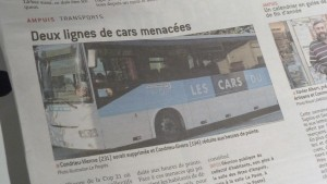 Depuis l'automne 2015, des usagers se moblisent pour sauvegarder le maintien des lignes 134 et 231 des lignes des Cars du Rhône et le service rendu à la population (© Pierre Nouvelle).
