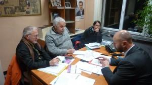 Lundi 18 janvier 2016, des membres du Collectif des usagers des lignes 134 et 231 des Cars du Rhône ont rencontré à Givors Chrsitophe Quiniou, membre du bureau exécutif du Sytral(© Pierre Nouvelle).