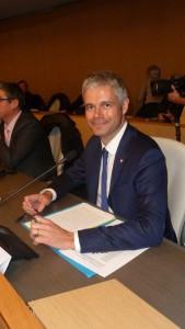 Le maire du Puy-en-Velay et député de la Haute-Loire est le premier président de la nouvelle région Aura (© Pierre Nouvelle).