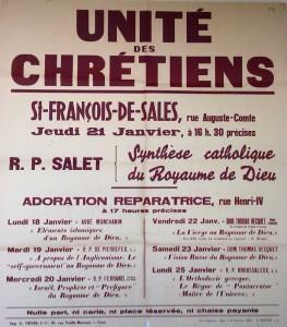 L'unité des chrétiens qui est une volonté évangélique qui s'est inscrit dans une histoire récente, après de trop exemples de divisions internes à la chrétienté (© DR).