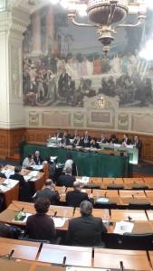 Première de l'année 2016, la séance plénière du 29 janvier 2016 marquera toute l'activité du Conseil départemental du Rhône (© Pierre Nouvelle).