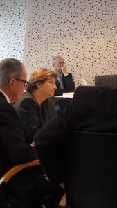 Annie Guillemot, présidente du Sytral et vice-présidente de la Métropole lyonnaise, a ouvert la séance des questions diverses par l'avenir des Cars du Rhône (© Pierre Nouvelle).