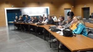 Dans la foulée des élus de Condrieu, leurs collègues de Tupin-Semons, Ste Colombe, Ampuis et Echalas ont donné leur avis sur le maintien des lignes 134 et 231 des Cars du Rhône (© Pierre Nouvelle);