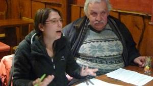 Aurélie Nortier et Pierre Chomard,: le collecti citoyen attend beaucoup de la réunion avc le conseiller départemental Renaud Pfeffer (© Pierre Nouvelle).