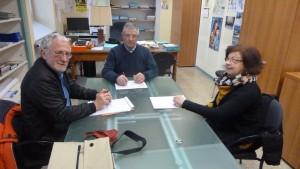 Lundi 29 février, des membres du collectif des usagers des lignes 134 et 231 ont rencontré Pierre Langlais maire de St Romain-en-Gal et vice-président de Viennagglo (© Pierre Nouvelle).