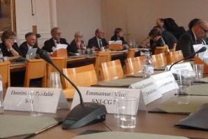 CFDT-Journalistes et SNJ-CGT ont exprimé leur soutien à la proposition de loi sur la protection des journalistes. Le SNJ a exprimé son opposition (© Magali Bourrel).