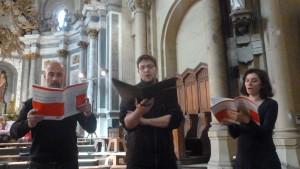En alternance avec les Choeurs du Morvan, Isabelle Savigny, Corentin Backès et Hubert Dény ont interprété les solos de la Messe de la sainte-Cécile (© Pierre Nouvelle).