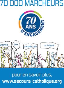 Depuis 70 ans,le Secours catholique-Caritas France marche pour la solidarité (© DR)