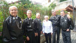 Six musiciens pour un quintet d'harmonicas : une aventure qui a débuté en 2012 à Condrieu (Rhône) (© Pierre Nouvelle).