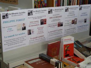 Une pléaide d'auteurs a témoigne de son amitié pour le travail culturel de la librairie Lucioles (© Pierre Nouvelle).