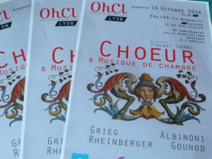 Choristes et musiciens des hospices civils de Lyon donneront un concert de musique sacrée et profane à Caluire (Rhône) ce 16 octobre 2016 (© Pierre Nouvelle).