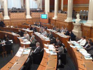 L'assemblée départementale a accueilli deux nouveaux élusL'assemblée départementale a accueilli deux nouveaux élus : Muriel Blanc, du canton de Vaugneray, et Richard Chermette du canton de L'Arbresle (© Pierre Nouvelle).