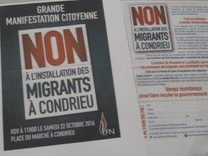 Les rejets des étrangers par l'extrême-droite trouvent en Rhône-Alpes des échos dans les propos et la pétition du président de la région Aura (© Pierre Nouvelle).
