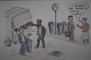 La grève chez Monin Ordures Services menée par des travailleurs étrangers a été un moment marquant pour les salariés comme la population lyonnaise privée du ramassage des poubelles pendant plusieurs semaines (© Guy Nauche).