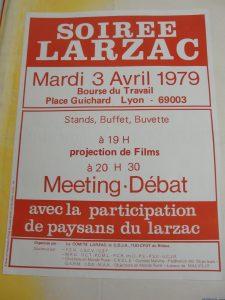 Le soutien aux travailleurs de Lip (1973) comme aux paysans du Larzac est allé de pair tout au log des années 1970 (© DR Pierre Nouvelle).