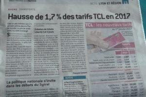 En 2017, les tarifs des Transports en commun Lyonnais augmenteront de 1,7% tandis que ceux de villefranche-su-Saône et de la Communauté de l'Est lyonnais grimperont de 3% (© Pierre Nouvelle).