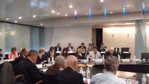Le débat a été vif entre élus de la Métropole de Lyon sous le ragard des représentants du département du Rhône (© Pierre Nouvelle).