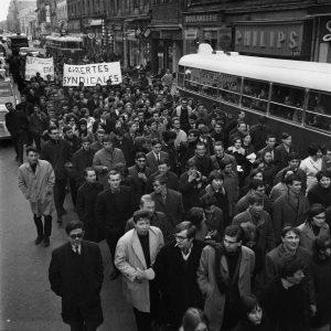 Début mai 1968, partie de l'Insa sur le campus de la Doua, la grève s'est étendue aux facultés situées sur les quais du Rhône (© DR/G. Vermard)